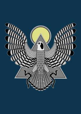 The Falcon, Horus, is the God of the Sky and soars abov ...
