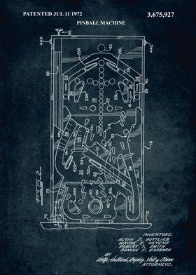 No199 - 1972 - Pinball machine - Inventors A. J. Gottli ...