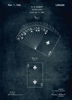No220 - 1926 - Playing cards - Inventor C. E. Albert