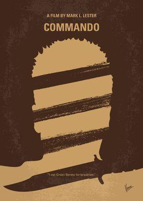 No834 My Commando minimal movie poster A retired elite ...