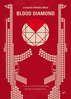 No833 My Blood Diamond minimal movie poster A fisherma ...
