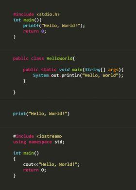 Programmer poster serie Hello World!