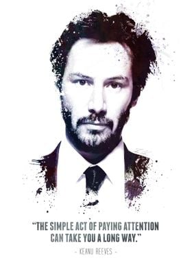 """The Legendary Keanu Reeves and his quote - """"The simple  ..."""