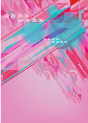 Futuristic Abstract formation of shapes with Negative S ...
