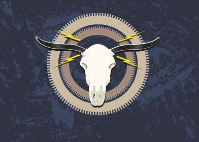 A Steampunk style Buffalo head on gears