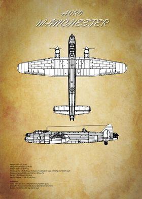 Avro Manchester Bomber Blueprint