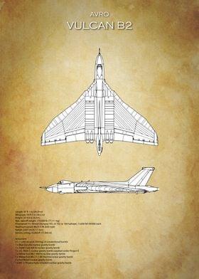 Avro Vulcan Bomber Blueprint