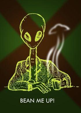 Bean Me Up! Alien at Cafe