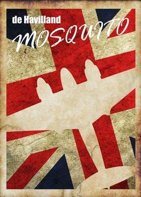 de Havilland Mosquito Vintage WW2 poster