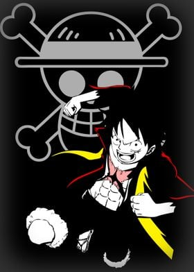 Monkey D. Ruffy/Luffy from the Anime One Piece