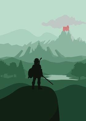 Zelda - Breath Of The Wild - Flat Landscape Design
