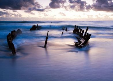 Dawn at the wreck