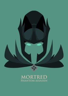 Mortred poster from DOTA 2