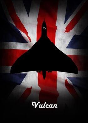 Royal Air Force Avro Vulcan Bomber Union Jack