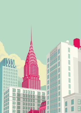Park Avenue with Chrysler Building NYC