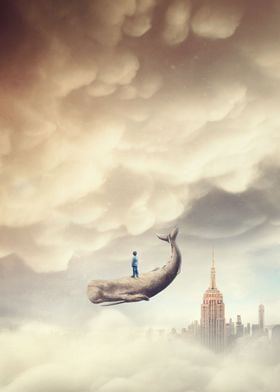 Boy and the flying whale II