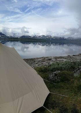 Staying at the Tyin lake in Norway