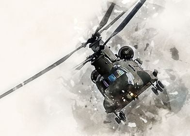 CH-47 Chinook Helicopter Painting