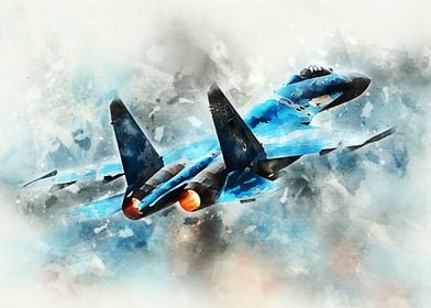 SU-27 Flanker digital painting