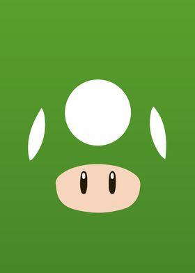 Mario Bros Green Mushroom
