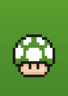 Mario Bros - Green Mushroo