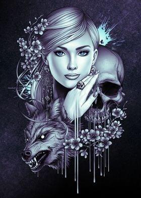 Skull Wolf Girl