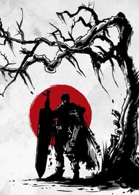 Black Swordsman under the sun