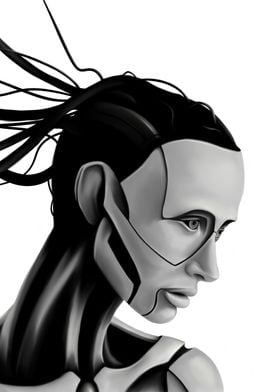 Android Woman Painting
