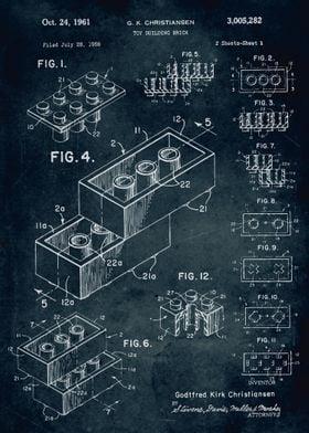 No071 - 1958 - Toy building brick