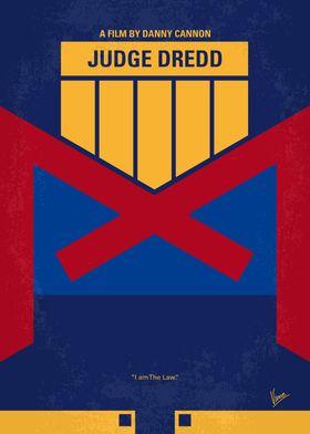 No861 My Dredd minimal movie poster