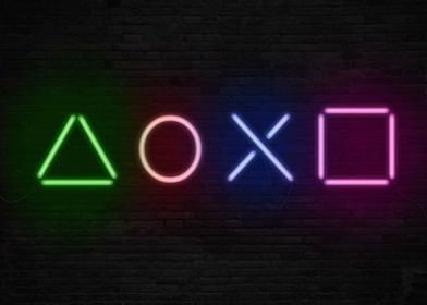 Buttons - Neons form (Playstation)