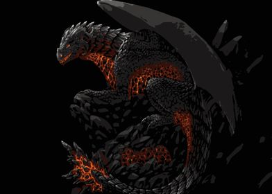Black Flaming Dragon