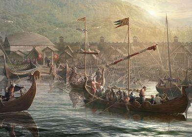 The Vikings harbor