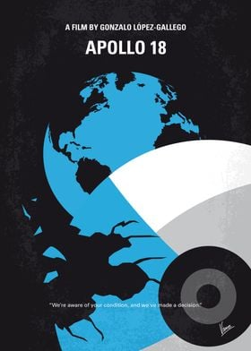 No873 My Apollo 18 minimal movie poster