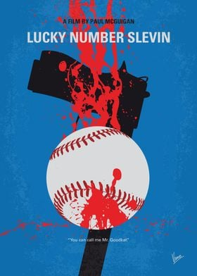 No880 My Lucky Number Slevin minimal movie poster