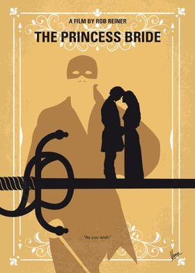 No877 My The princess bride minimal movie poster