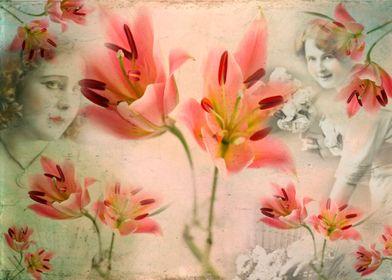 Hidden under the flowers