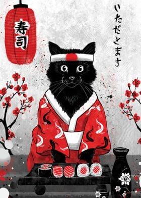 Sushi Cat - Ruby Art
