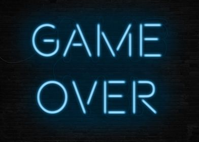 Game Over - Neon form