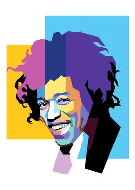 Jimi Hendrix in Pop Art