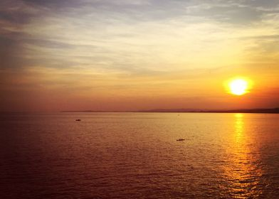 cruising towards the sunset