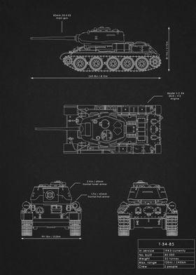 T-34-85 Blueprint