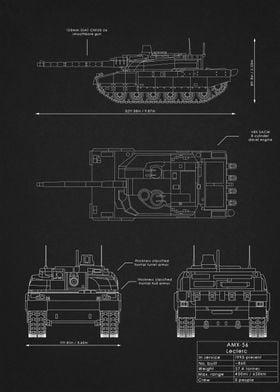 AMX-56 Leclerc Blueprint