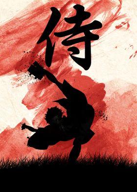 red mugen with samurai kanji