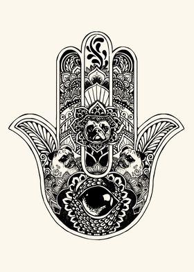 Hamsa Hand Pug