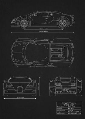 Bugatti Veyron Blueprint