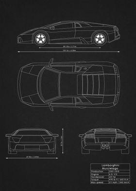 Lambo Murcielago Blueprint