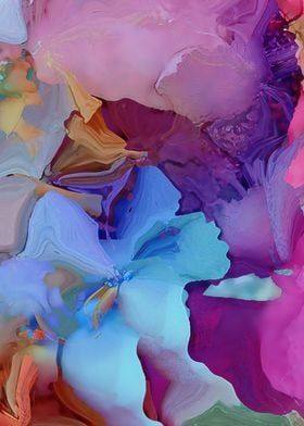 Alcohol Ink Flowers
