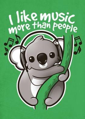 Koala likes music more than people