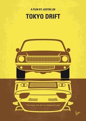 No207-3 My Tokyo Drift minimal movie poster